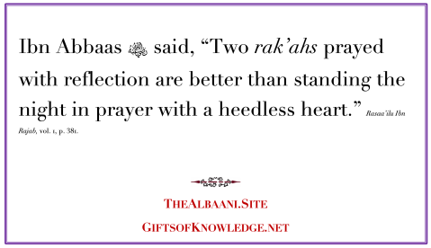 Two Rak'ahs Prayed with a Reflective Heart